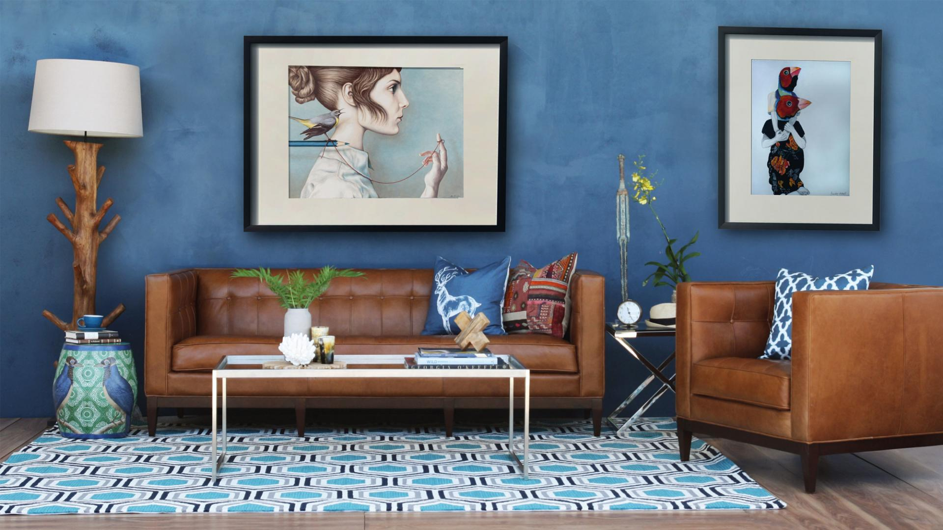 Blue Living Room Decor Ideas to Apply | Southern Pride Painting llc